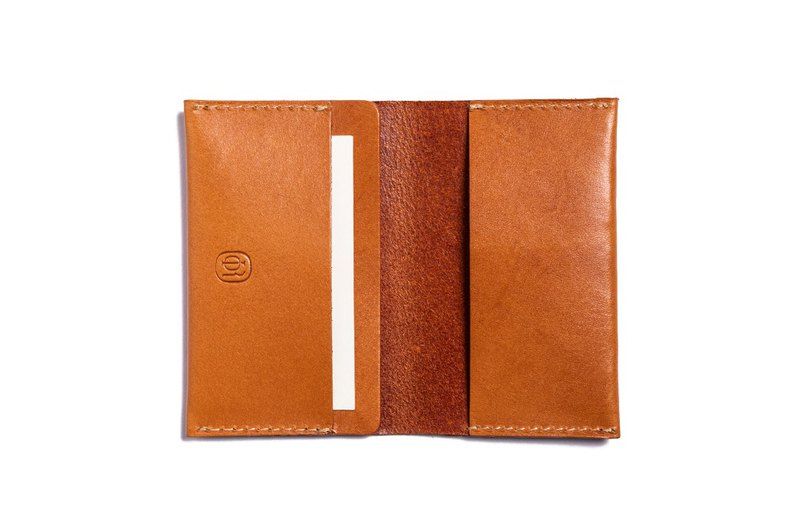 Lin Guoliang City Series Card Holder Honey Brown