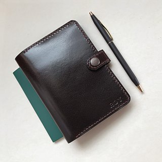 Toscana leather passport holder black chocolate / custom gift travel