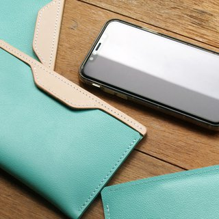weekenlife - Leather Phone Case for iPhone X / Xs( Custom Name ) - Tiffany Blue