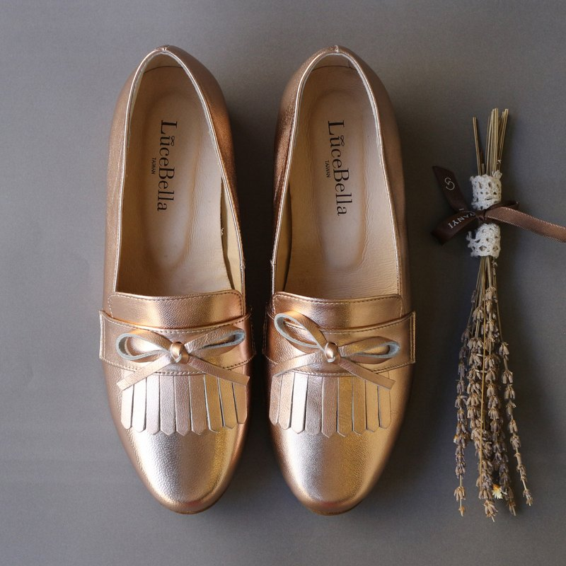 【 Jupiter】  tassel Loafer shoes - gold