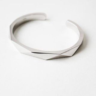 Hearts Original Design S925 Silver Simple Geometric Bracelet Men and Women Creative Hand Ring Couple Student Facial Bracelet
