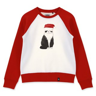 AMO Original cotton adult Sweater /AKE/Cat wearing Christmas Hat