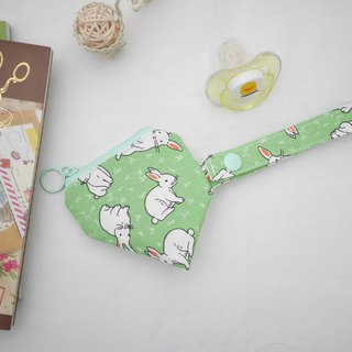 Rabbit three-dimensional triangle pacifier bag