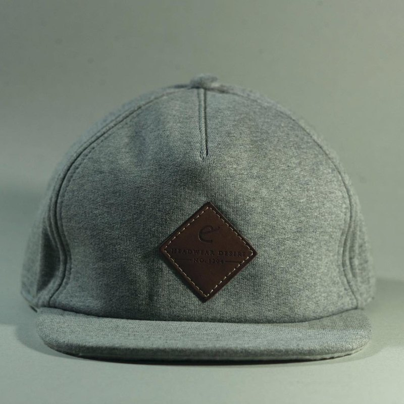 Grey Woolen 6panel cap