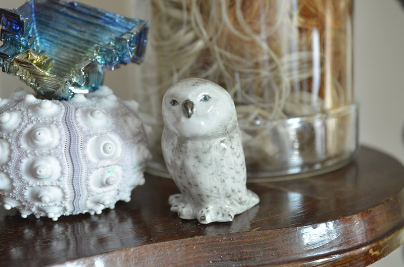 Handmade ceramic owl decoration