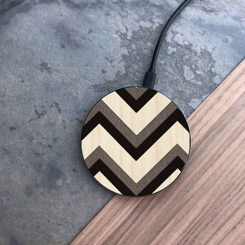 [Pre-order] log wireless charging disk / zigzag