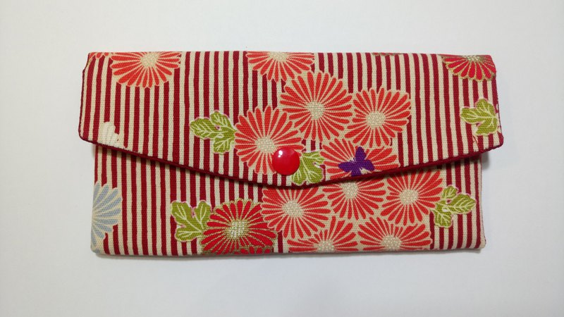 Lucky double red envelope bag / passbook storage bag (24 purple butterfly chrysanthemum)