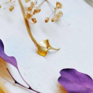 Ginkgo Leaf 18kgf Necklace