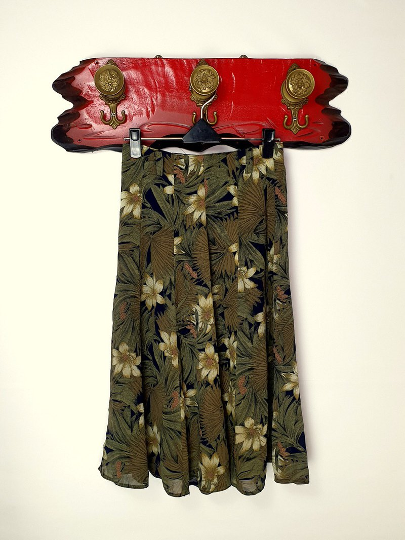 Little Turtle Gege - Classic Flower High Waist Ancient Skirt