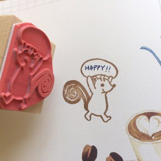 Zoe's Forest squirrel dialog seal rubber stamp