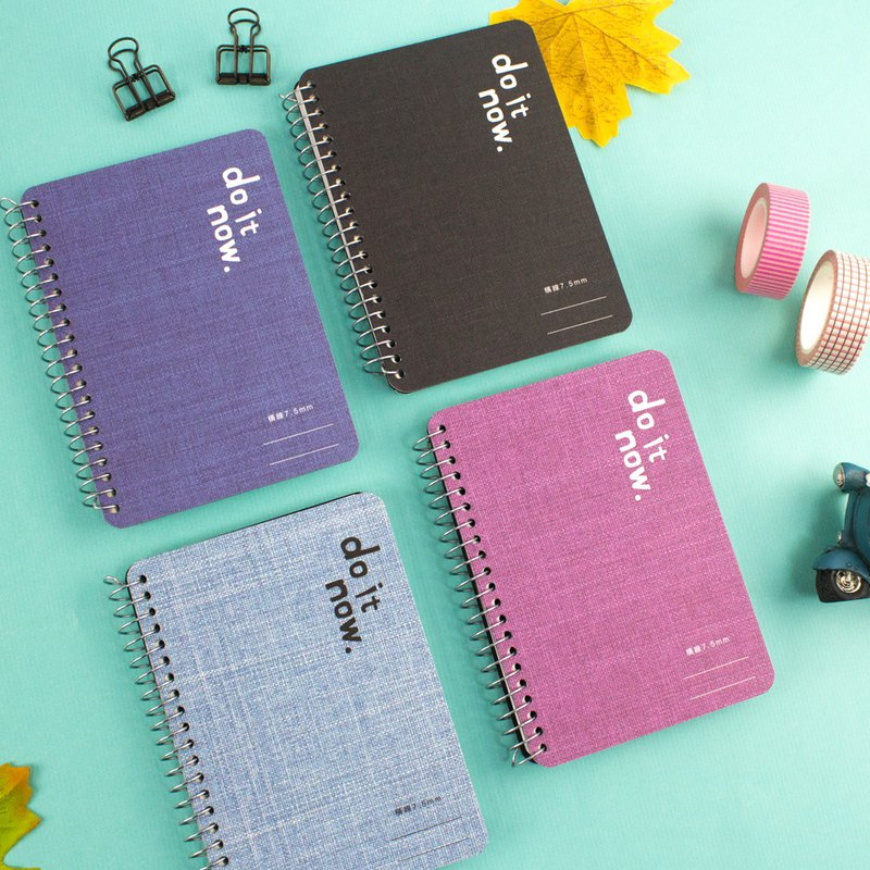 72K easy to tear ring notes / notepad / coil / universal / portable small notes (horizontal line) - do it now