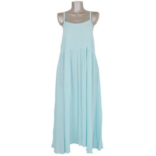 Resort maxi dress <Aqua>