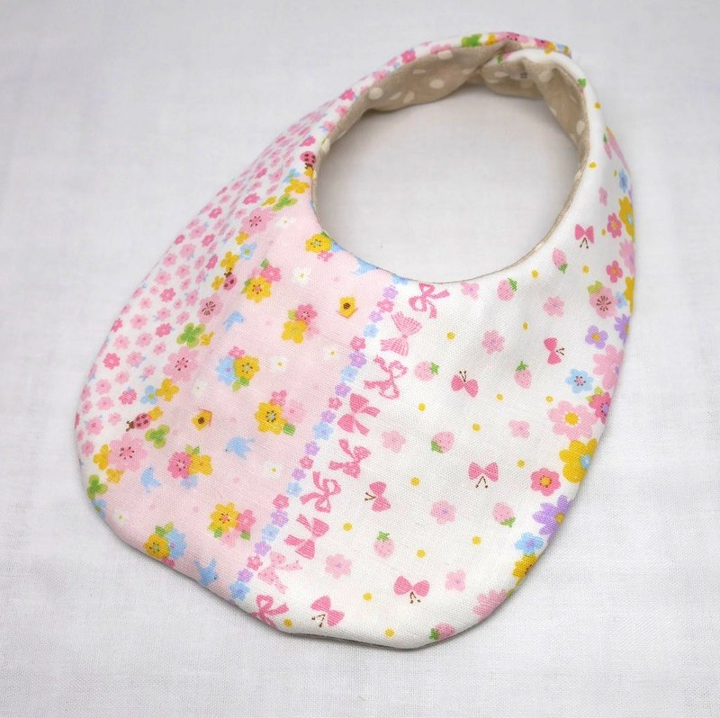 Japanese Handmade 4-layer-double gauze Baby Bib /flower