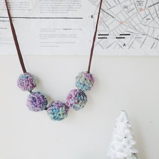 [Endorphin] braided yarn 毬 necklace