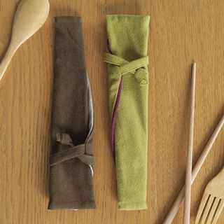 Cotton linen tableware storage bag - cutlery bags | wide version