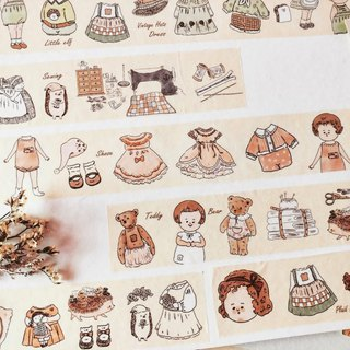 Paper tape l sewing machine doll's wardrobe (special ink)