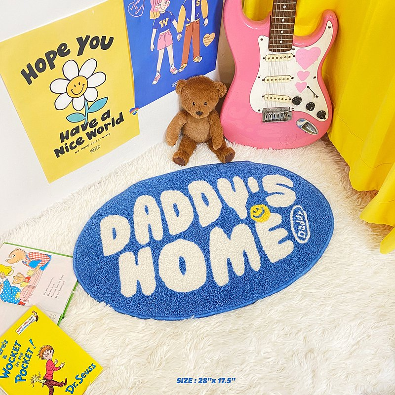 Daddy is home rug