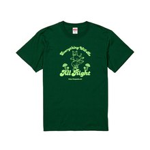 cbdf608cd0 猫とカエルのTシャツ うまとび グリーン 男女兼用