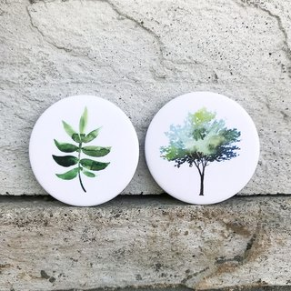 Foliage with Big Tree / Badge (2 in)