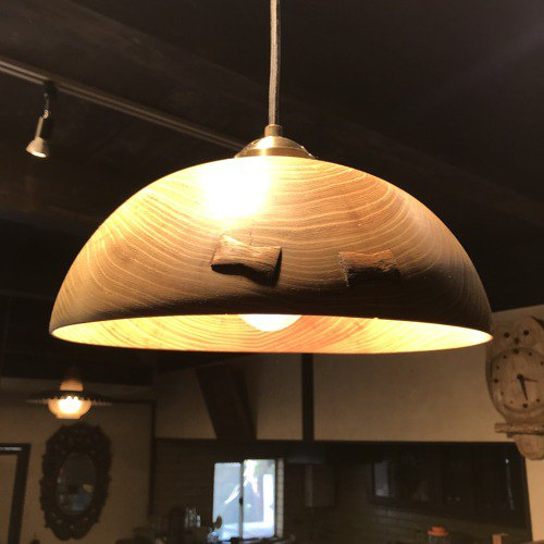Pendant light by Locust tree bowl type