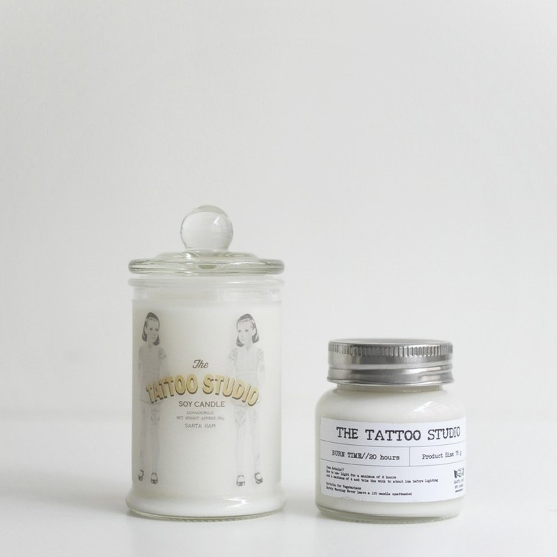 SANTA HAM Natural Fragrance Soy Candle Tattoo Shop Combination