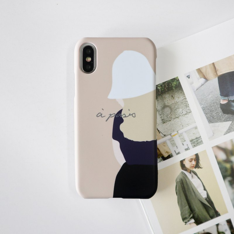 French little girl phone case