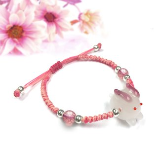 Rabbit String Bracelet | Crystal Bracelet | Rabbit Glass Bracelet | Cute Rabbit