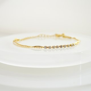 Bracelet / CZ two-strand Bracelet / Te鐲 CZ Allowed love