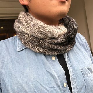 Ms. Forest Handmade Knitting - Black Gray and White / graduation color Scarf