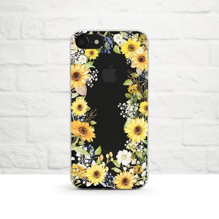 Sunflowers, Clear Soft Case, Clear Soft Case, iPhone X, Samsung