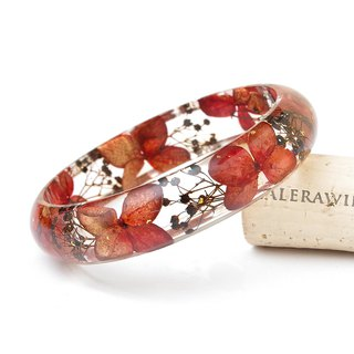 Flower Theory ・[Classic Series] Xiaomantian Hydrangea, True Flower Bracelet, Autumn Color, Dry Flower