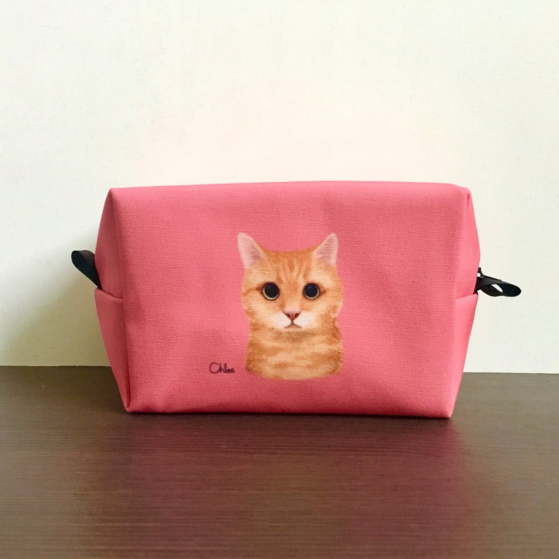 Classic Wang Hao cosmetic bag / storage bag - orange cat