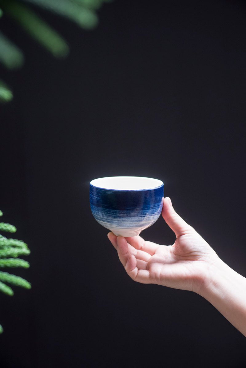 Cool Summer Blue Dye Cup / Iron Cup 250ml
