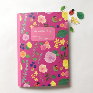 Ladybug Afternoon tea party A5 checkered notebook