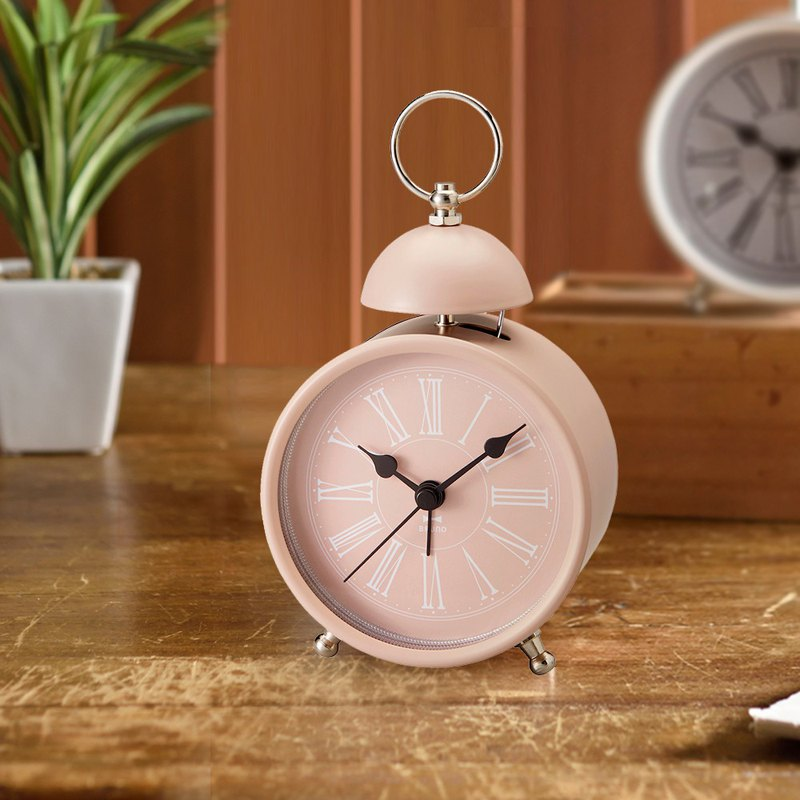 Japanese BRUNO Antique Roman Digital Round Alarm Clock (Pink)