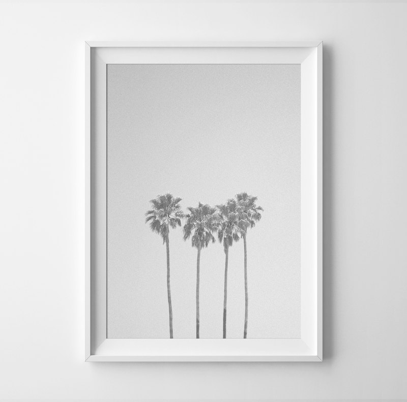 Palm trees Print Customizable posters