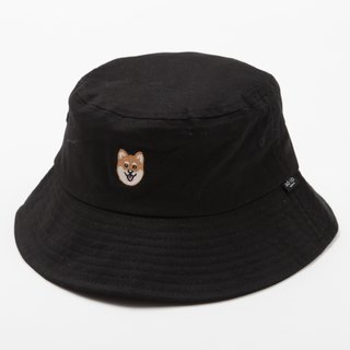 【Pjai】Embroidery Bucket Hat - Black//Denim (AH100)