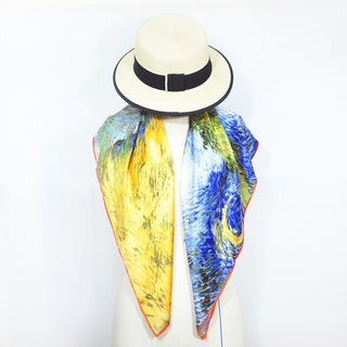 【Road With Cypresses】 Silk Scarf