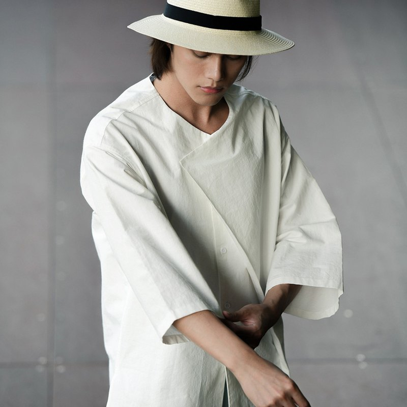 Machismo ✕ Just zishi joint goods - Japanese and paper shirts