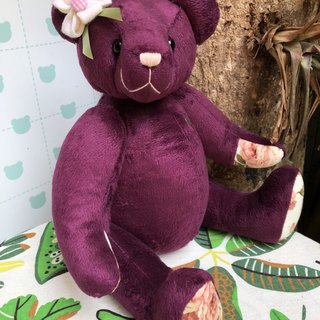 Handmade teddy bear texture purple 43cm only one left in stock
