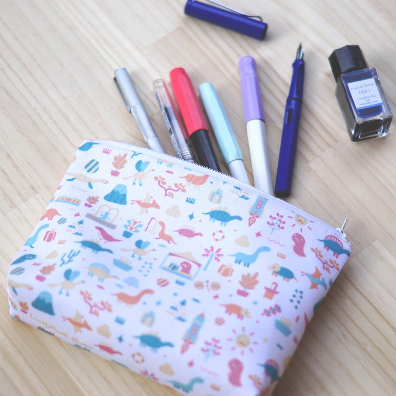 Cosmetic bag, pencil case - Dinosaurs go to the fair - second generation