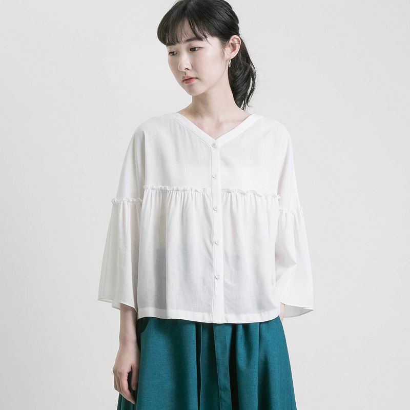 Dreamcatcher_Dream Weaver Two-Pleat Top_9SF001_Off-White