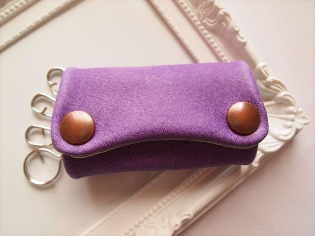 [Pig leather soft key case] by color leather 1528002