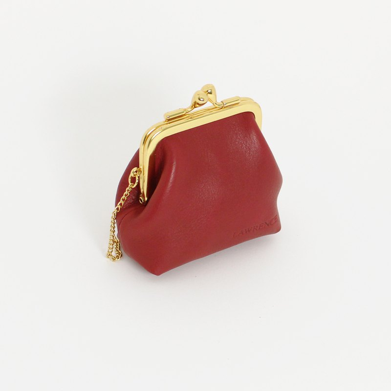 Morandi Red Nappa Cowhide Gold Coin Purse