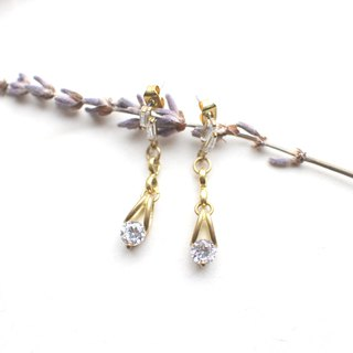 Classical story-zircon earrings