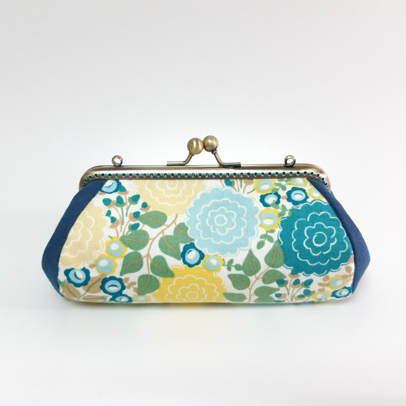 Gold bag / storage bag / cosmetic bag / fresh blue