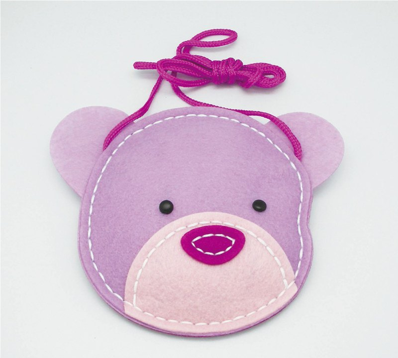 Fairy Land [Material Bag] Animal Crossbody Bag - Bear