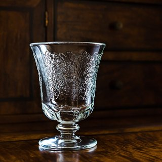 Pattern glass low cup