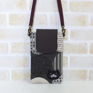 丫喵Mobile phone bag - Pope gray (with strap)