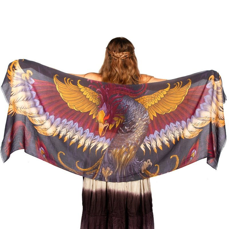 Phoenix scarf - cotton